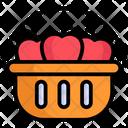 Fruit Basket Food Cart Street Food Icon