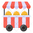 Food Stall Street Stall Food Cart Icon