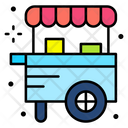 Food Cart Food Stand Cart Icon