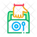 Food Container Delivery Icon