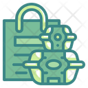 Food Container Delivery Bag Icon