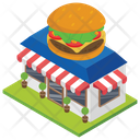 Food Corner Restaurant Food Point Icon