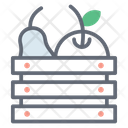 Food Crate Fruits Crate Fruit Box Icon