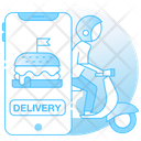 Food Delivery Delivery Bike Delivery Scooter Icon