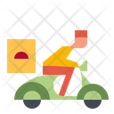Delivery Food Man Icon