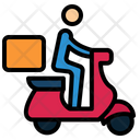 Motorbike Motorbike Food Delivery Icon