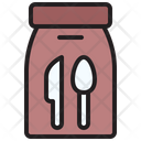 Food Delivery Spoon Paperbag Icon