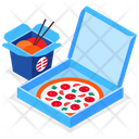 Food Delivery Pizza Box Noodles Box Icon