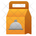 Paper Bag Food Cloche Icon