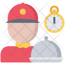 Courier Cloche Time Icon