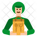 Delivery Man Food Icon