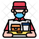 Food Delivery Boy Icon