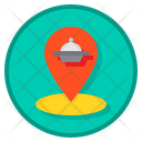 Tracking Food Order Delivery Map Icon