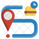 Food Delivery Location Delivery Route Food Delivery Icon