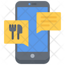 Food delivery message Icon