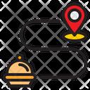 Location Delivery Food Icon