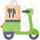 Food delivery scooter Icon