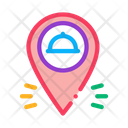 Food Delivery Gps Icon
