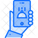 Hand Phone Cloche Icon