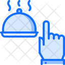 Hand Click Cloche Icon
