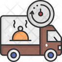 Food Order Online Order Delivery Truck Icon