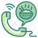 Call Food Delivery Icon