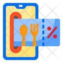 Credit Card Food Delivery Icon
