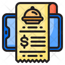 Receipt Delivery Food Icon