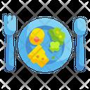 Food Plate Dish Cloche Icon