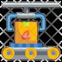 Food Production Conveyor Transport Icon