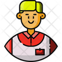 Food Service Avatar Courier Icon