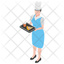 Food Serving Waiter Restaurant Waiter Icon