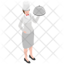 Food Serving Waitress Restaurant Waiter Icon