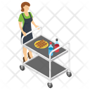 Food Serving Trolley Waiters Trolley Serving Trolley Icon