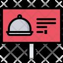 Billboard Cloche Food Icon