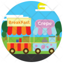 Food Stall Truck Icon