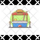Food Stall Food Market Food Cart Icon