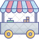 Booth Food Stall Food Stand Icon