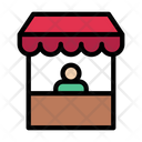 Stall Food Store Icon