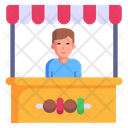 Kiosk Food Stall Food Outlet Icon
