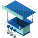 Square Food Stand Icon