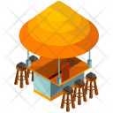 Terrace Food Stand Icon