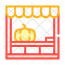 Sale Stand Pumpkin Icon