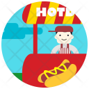 Food Stand Man Icon