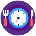Eating Time Food Time Lunch Time Icon