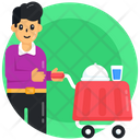 Food Service Food Trolley Waiter Icon