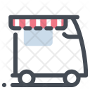 Food Truck Store Sale Icon
