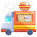 Food Truck Food Delivery Icon