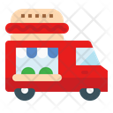 Food Truck Vehicle Moving Icon