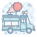 Food Truck Ice Mobile Food Mobile Icon